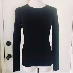 Ann Taylor Navy & Black Sweater